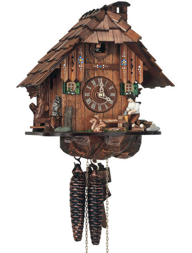 Chalet Cuckoo clock with Woodchopper