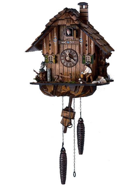 Quartz Cuckoo clock with Woodchopper