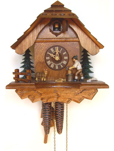 Cuckoo clock with Woodchopper