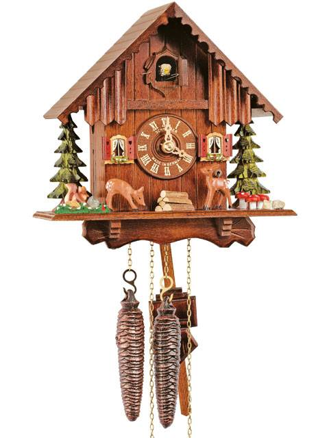 Cuckoo clock with moving deer