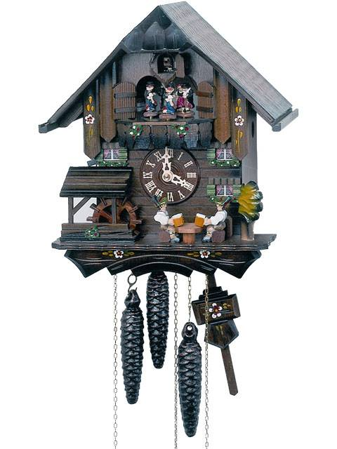 Small Chalet Cuckoo clock with Beer drinker