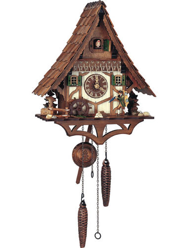 Quartz Cuckoo clock with Clock Peddler