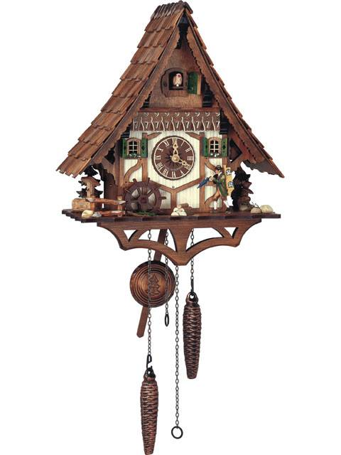 Traditional House with Clock Peddler