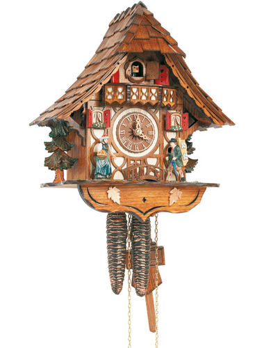 Traditional House Cuckoo clock with Clock Peddler