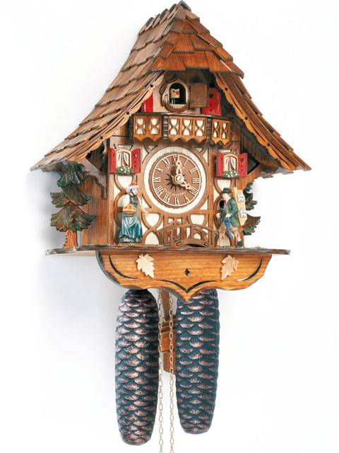 8 Day Cuckoo clock with Clock Peddler