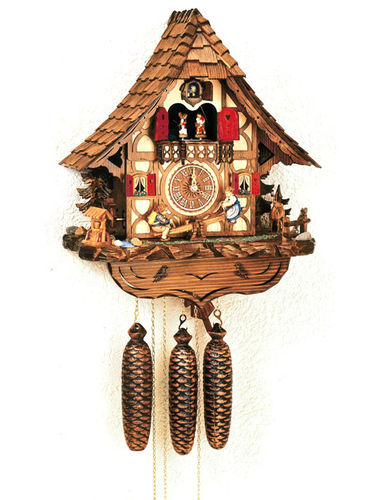 Cuckoo clock with children on See-Saw