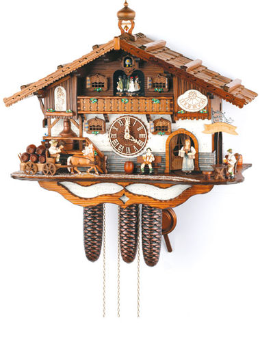Cuckoo clock of a Bavarian Biergarten