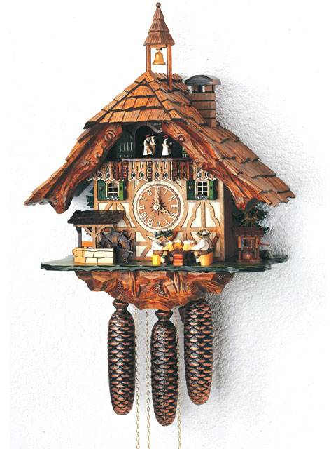 Cuckoo clock with Bell Tower and Beer drinker