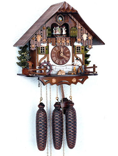 Chalet style Cuckoo clock with Wood chopper