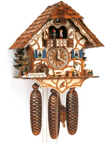 Cuckoo clock with water wheel and Beer drinker