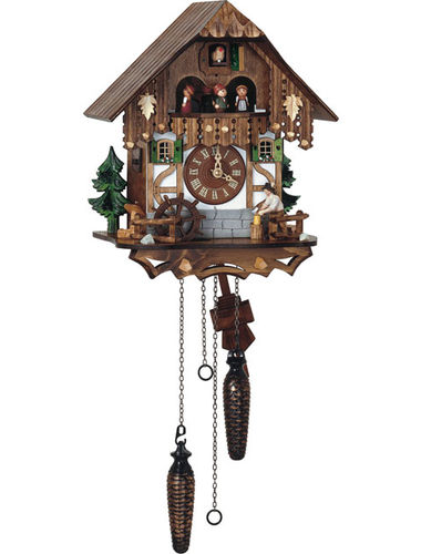 Quartz Cuckoo clock with Wood chopper