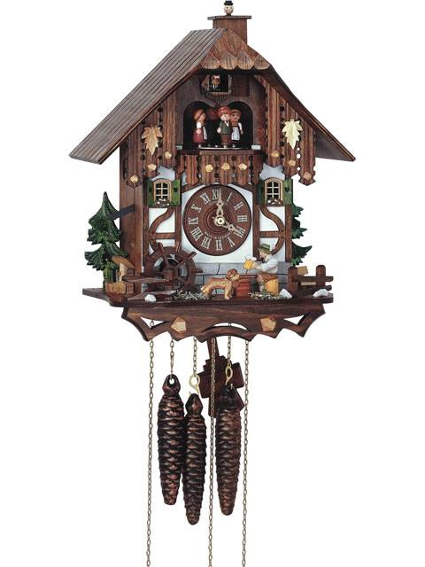 Cuckoo clock with Beer drinker and chimney sweep