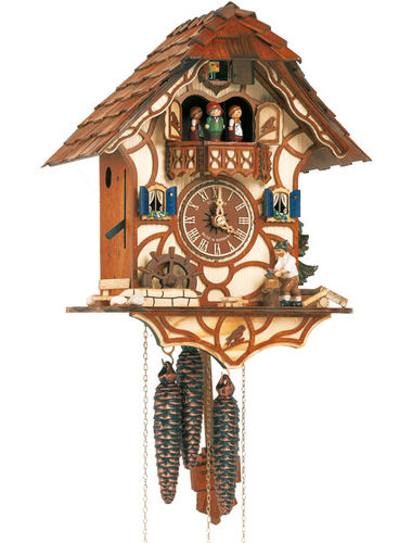 Chalet Cuckoo clock with Wood chopper