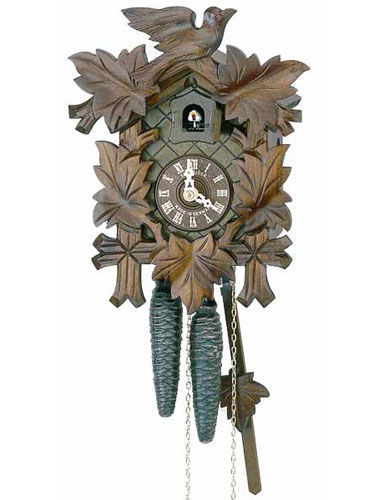 Cuckoo clock with carved fascia