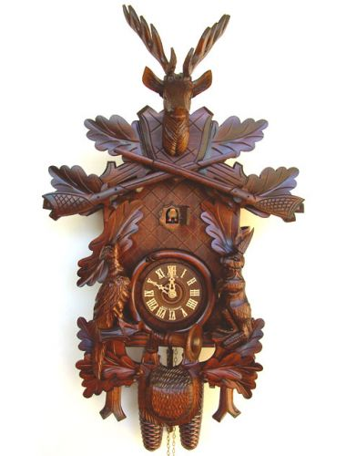 Eight day carved Cuckoo clock