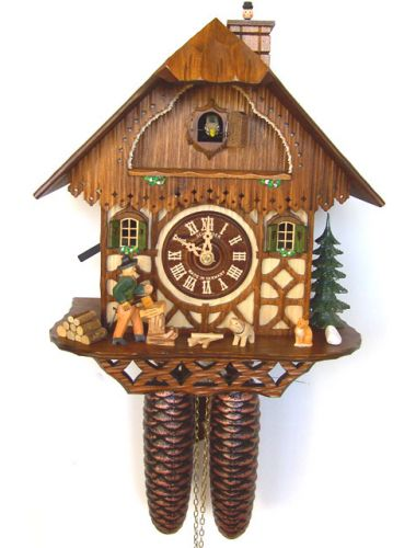 Cuckoo clock with Woodchopper and Sweep