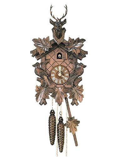 Cuckoo clock with woodpecker