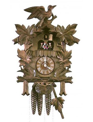8 day Cuckoo clock with nesting birds