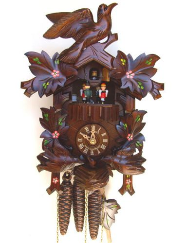 Cuckoo clock with birds on the nest