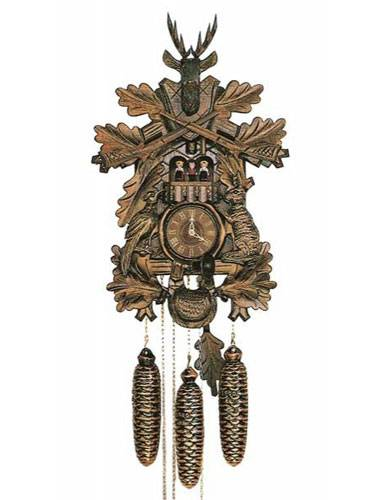 Carved Hunter style Cuckoo clock