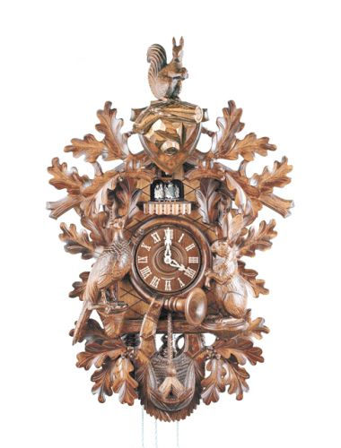 Hand carved Hunter style Cuckoo clock