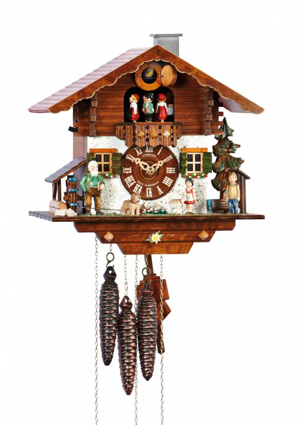 Cuckoo clock, with Heidi figurines and jumping goat