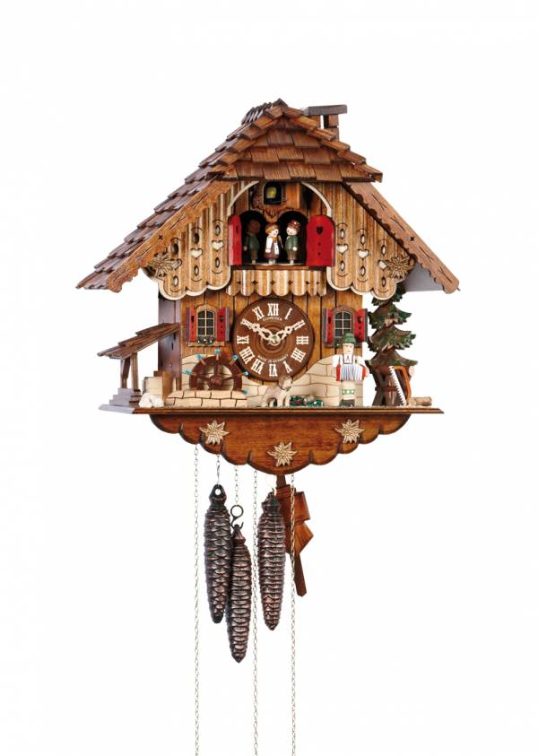 Chalet style Cuckoo clock with Musician