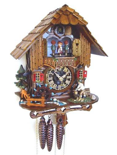 Cuckoo clock with wood chopper and Bambi deer