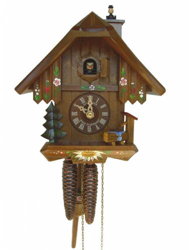 Cuckoo clock with Black Forest Figurines