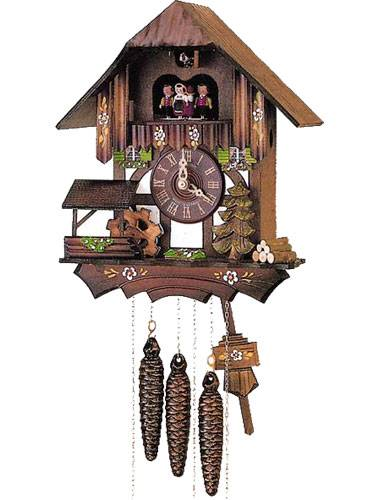 Forest scene Cuckoo clock with Mill Wheel