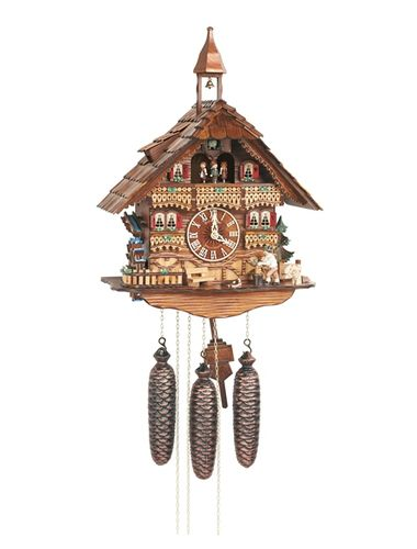 Bavarian house with woodchopper