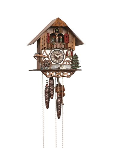 Cuckoo clock with Mill Wheel