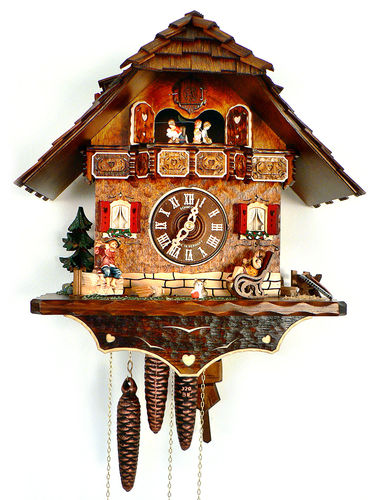 Cuckoo clock with children playing music
