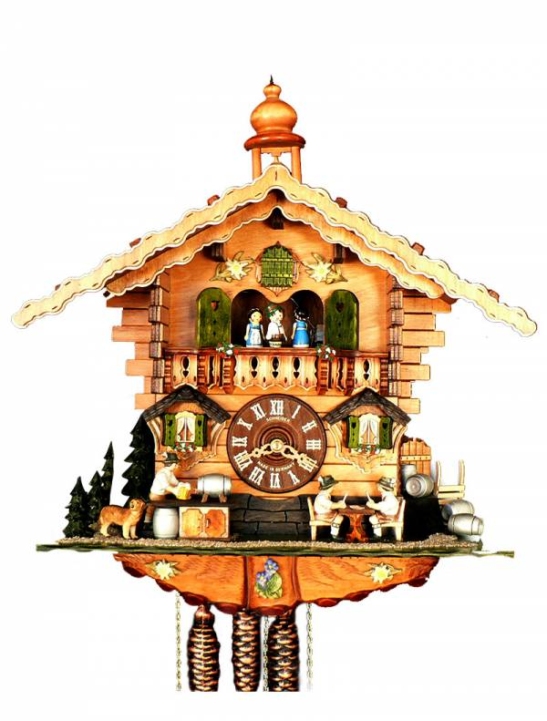 Cuckoo clock card players at the local brewery