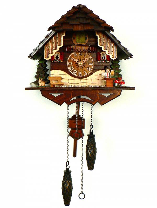 Quartz Cuckoo clock with Beer drinker