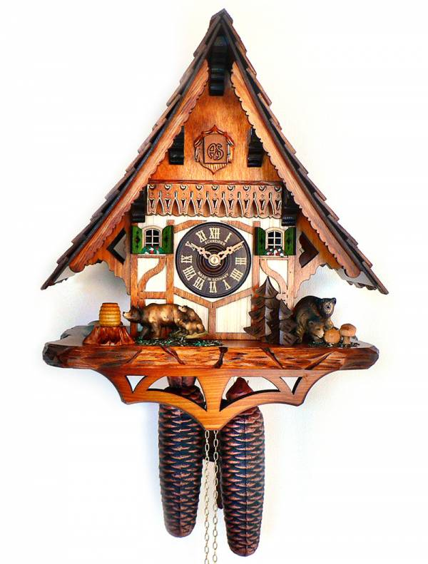 Cuckoo clock with Bear cubs
