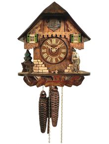 Small 'rustic' Chalet clock with woodchopper
