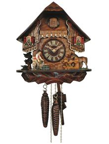 A small Chalet clock with the Blacksmith