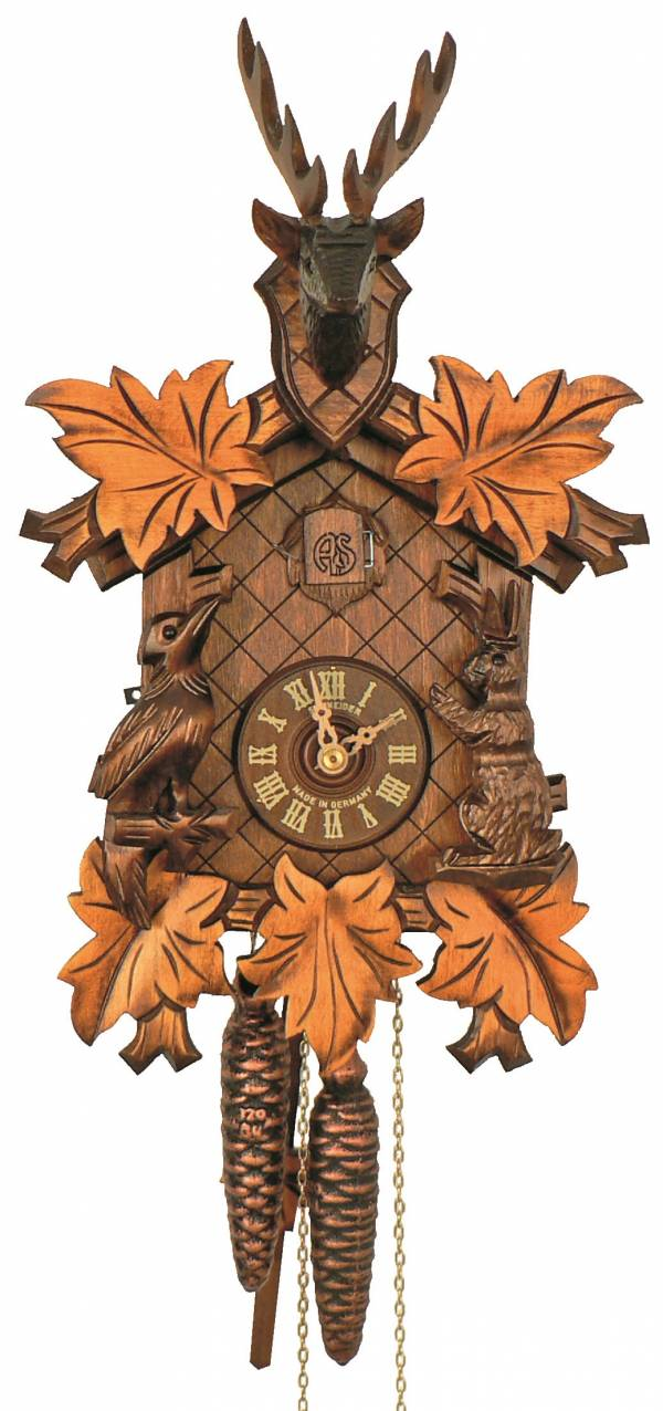 Cuckoo clock with Stags head