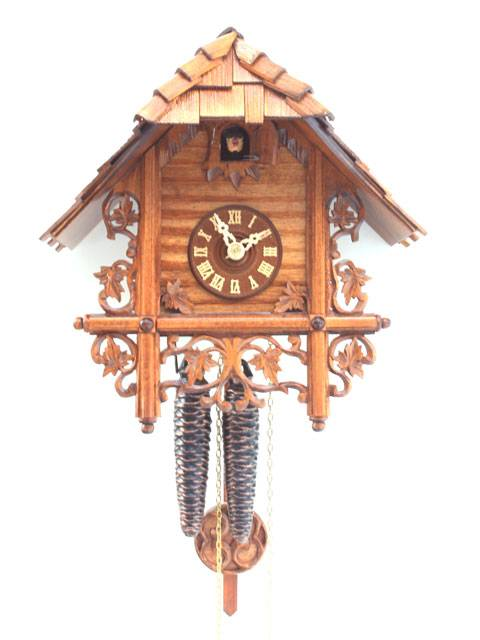 Simple Chalet style Cuckoo clock with fine carving