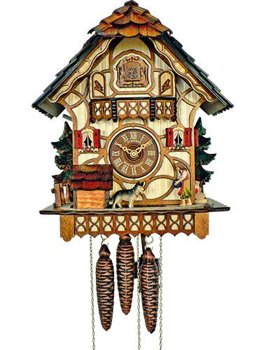 Cuckoo clock with automatic night off