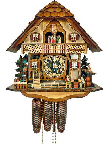 Cuckoo clock with perspex fascia