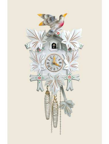 White painted Cuckoo clock
