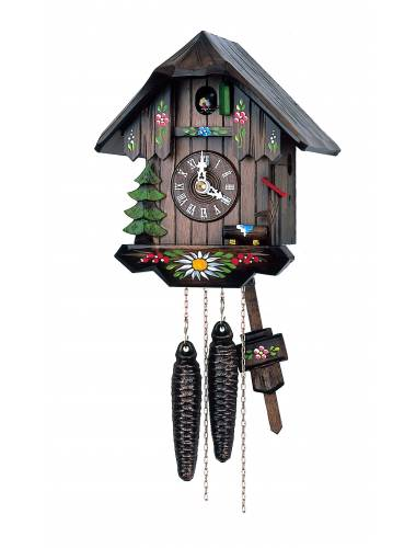 Simple Chalet hand painted Cuckoo clock