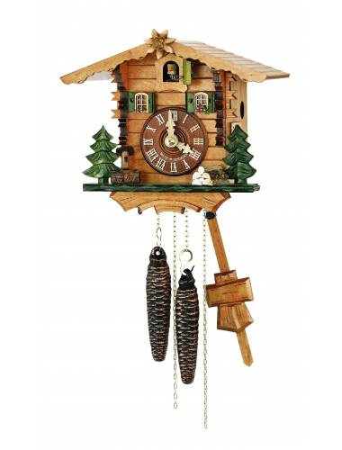 Cuckoo clock with natural finish