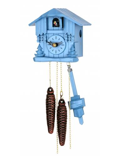 Small blue chalet Cuckoo clock