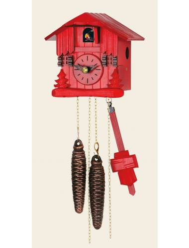 Small red chalet Cuckoo clock