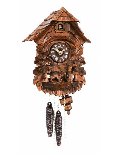 Cuckoo clock with carved Bear and Owl