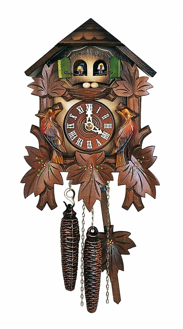 Cuckoo clock with twin doors