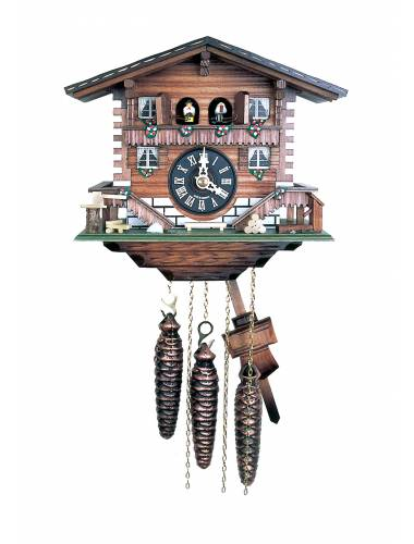 Double door musical Swiss chalet style Cuckoo clock